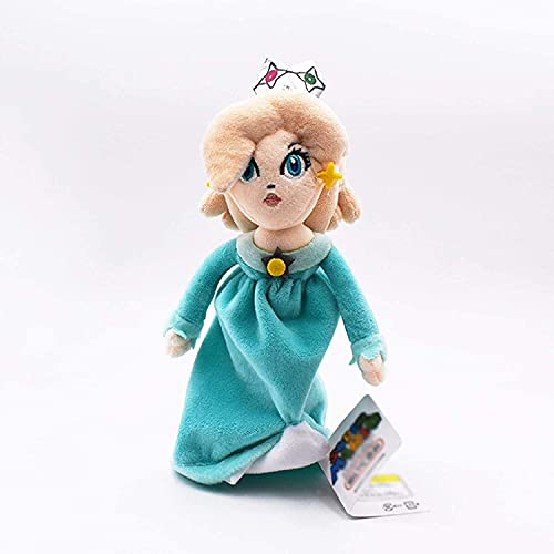 Nucifer Super Mario Brothers Plush Toys Princess Rosalina/ Daisy/ Peach Plush Stuffed Doll for Christmas Valentine's Day( 8-10 inch) (Princess Rosalina)