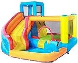 Castillo Inflable para niños Tobogán para niños Juguetes para niños y niñas Grandes Área de Juegos pequeña para Interiores Trampolín para niños al Aire Libre-Color_Los 280 * 320 * 210cm Uptodate