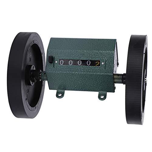 Z96-F, relación de rotación 1: 3, con mecanismo de puesta a cero, acero inoxidable + caucho, contador de metros tipo rollo, 0-9999,9, para medir textiles para(Code counter)