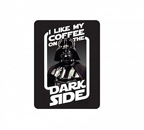 Star Wars - Metall Magnet - Darth Vader - Coffee on the Dark Side - 9 x 6,7 cm