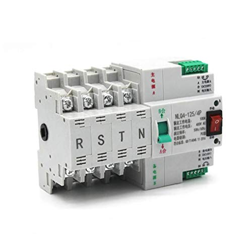 xiaocheng Transferencia de energía Dual automática 380V 100A Interruptor de Transferencia automática Selector eléctricos Conmutadores Kit de Bricolaje Trabajo Industrial
