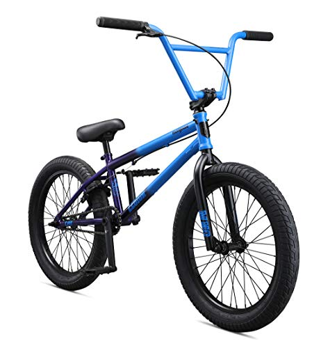 Mongoose Legion L60 Freestyle BMX Bike for Intermediate to Advanced Riders, Featuring Hi-Ten Steel Frame and Micro Drive 25x9T BMX Gearing with 20-Inch Wheels, Blue