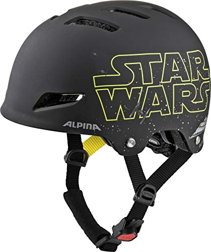 ALPINA Park JR, Casco da Bicicletta. Bambino, Star Wars-Black, 51-55 cm