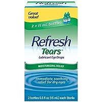 2 x 2-Count Refresh Tears Lubricant Eye Drops (0.5 fl. oz. Bottles)