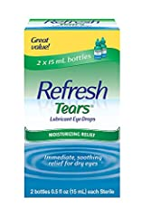 These eye drops can also help relieve natural dryness, or dryness resulting from environmental factors like allergies, smoke, wind or sun exposure. The eye drops are available in the convenient two-pack of 0.5 Oz bottles. This fast-acting and long-la...