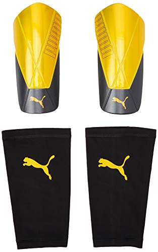 PUMA ftblNXT Team Sleeve Espinillera Futbol, Unisex-Adult, Ultra Yellow Black, XL