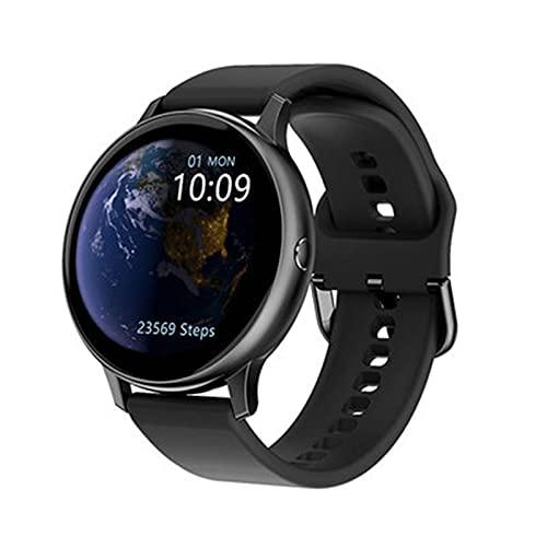 enomaa Reloj Inteligente de 1.3 Pulgadas, Monitor de frecuencia cardíaca/monitoreo de presión Arterial, podómetro, autofoto con Control Remoto y Otros Modos Deportivos, Unisex Negro