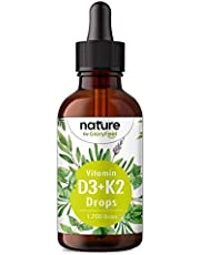 Vitamine D3 + K2 druppels 50ml - Premium 99,7+% All-Trans (K2VITAL® van Kappa) + hoog biobeschikbaar vitamine D3 - laboratorium getest, hoog gedoseert en zonder toevoegingen geproduceerd in Duitsland