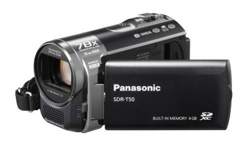 Panasonic Videocam Sdr-T50Eg-K 4Gb+Sd 78Xzoom