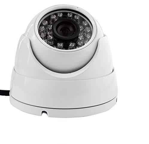 ELP-Cámara de tipo Mini domo para seguridad para el hogar y 720p, infrarrojos LED infrarrojos, visión nocturna () color blanco