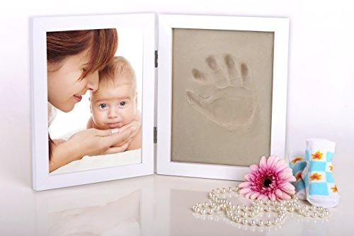 1x Bilderrahmen 38x24 Gipsabdruck Baby Hand Fuß Fotorahmen, Baby Abdruck UVP 20€