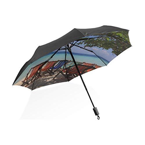 Paraguas Divertido para niños Fila de sillas de Cubierta en la Playa...
