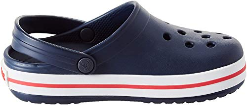 crocs Unisex-Kinder Crocband K Clogs, Blau (Navy/Red), 27/28 EU