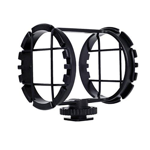 Movo SMM2 Kamera Schuh Shockmount für Richtrohre 19-25mm im Durchmesser (einschließlich Rode NTG-1, NTG-2 und Sennheiser MKE-600)