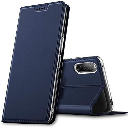 Verco Handyhülle für Sony Xperia L4, Premium Handy Flip Cover für Sony Xperia L4 Hülle [integr. Magnet] Book Hülle PU Leder Tasche, Blau