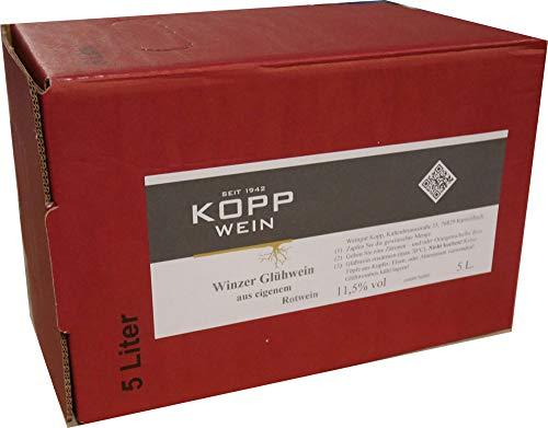 5 Liter servierfertiger Winzerglühwein aus der Pfalz 12,5% alc. Weingut Kopp 4,06€/l