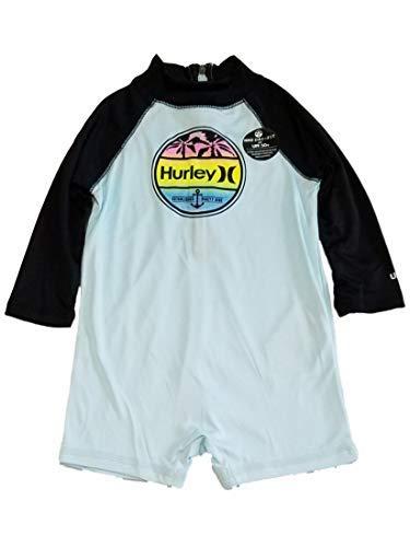 Hurley Baby One Piece Swimsuit, Topaz Mist, 3/6M