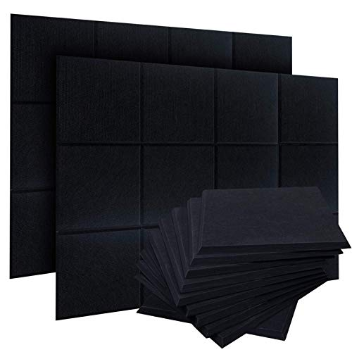 ZHERMAO 24 Pack Acoustic Panels Sound Proof Padding,12 X 12 X 0.4 Inches Sound Dampening Panels...