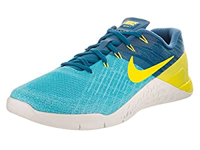 Nike Mens Metcon 3 Shoes Chlorine Blue/Industrial/Lime Size 9