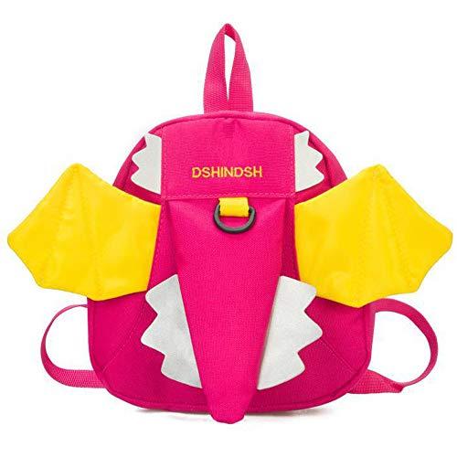 Kinderrucksack Mit einem kleinen Flügel Kindergarten Kleiner engel Rucksack Kinder Rucksack Kinderrucksack Geeignet Bringen Sie ein Zugseil mit, um Verluste zu vermeiden,21*7*22cm,Rosa