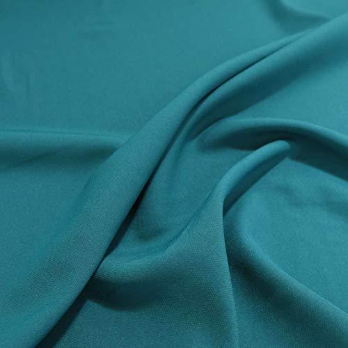 TOLKO 1m Modestoff | Dekostoff universal Stoff zum Nähen Dekorieren | Blickdicht, knitterarm | 150cm breit Meterware Bekleidungsstoffe Dekostoffe Vorhangstoffe Baumwollstoffe Basteln Patchwork (Blau)