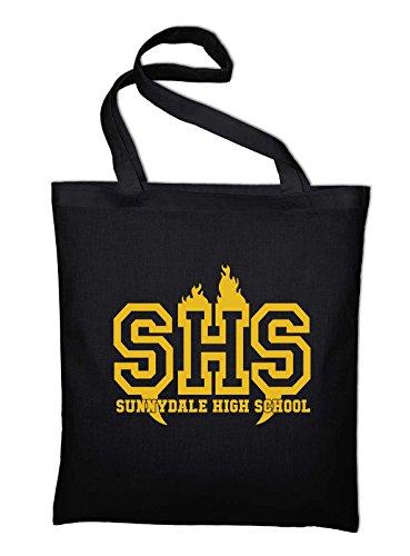 Styletex23 Sunnydale High School Buffy The Vampire Slayer Fan Jutebeutel Baumwolltasche, schwarz