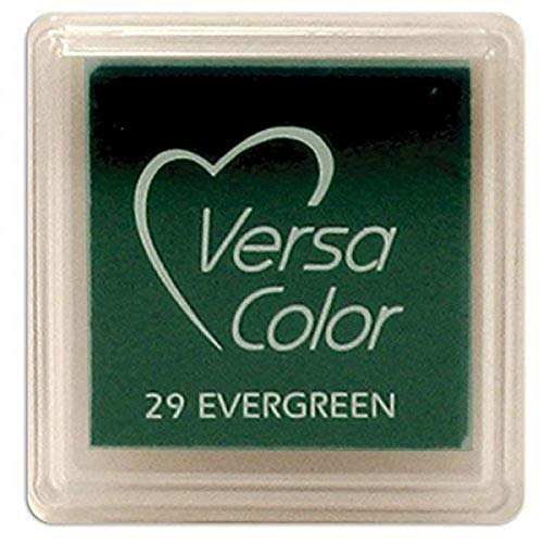 Versasmall Tampon encreur VersaColor Pigment, Petit Cube - Evergreen