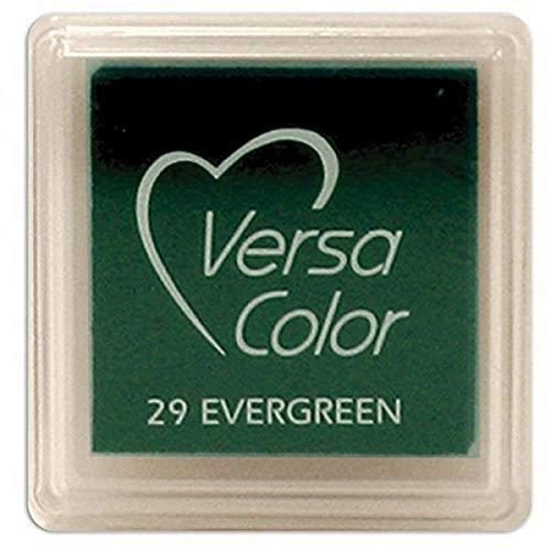 Versasmall VersaColor Tampon encreur Petit Cube 25 × 25 mm Pigment Evergreen