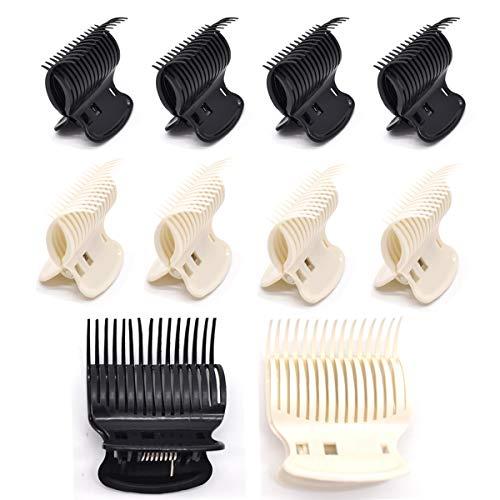 Liwein Clips de Rodillo Caliente,Clips de Garra Plástico Rizador de Pelo Pinzas Repuesto Para Mujeres Niñas Peinado Rulos de Pelo Pequeños Medios Grandes Blanco Negro(20 Piezas)