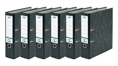Elba - Archivador de palanca, tamaño A4, color negro, paquete de 6 unidades Pack de 6 unidades