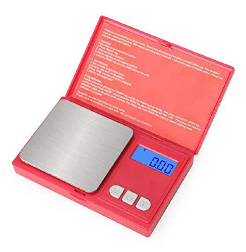 Eidyer Balance numérique 500 g x 0,01 g Mini balance portable, balance numérique Pro Pocket avec écran LCD rétroéclairé, balance de cuisine, bijoux (500 g/0,01 g)
