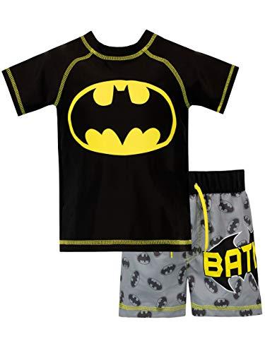Batman Jungen DC Comics Zweiteiliger Badeanzug Schwarz 140 (Herstellergröße: 9 - 10 Jahre)