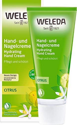 WELEDA Citrus Hand- und Nagelcreme, pflegende Naturkosmetik Feuchtigkeitscreme für brüchige Nägel und rissige, trockene Hände, Heilcreme für die Pflege der Haut (1 x 50 ml)