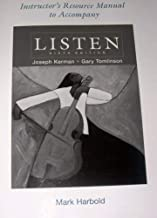 Instructor's Resource Manual to Accompany LISTEN (Sixth Edition)