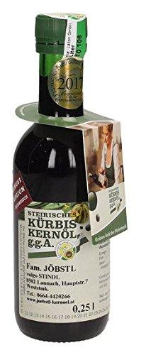 100% natürliches, echtes Steirisches Kürbiskernöl g.g.A. 0,25 Liter