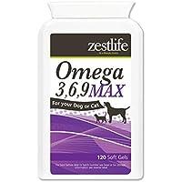MAX Zestlife Omega 3,6,9 para geles suaves 120 perros y gatos