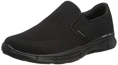 Skechers Men's Equalizer-Double Play Moccasins, Black (Black), 9.5 UK (44 EU)