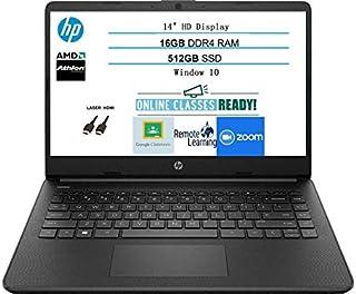 2020 Newest HP 14 Inch Premium Laptop, AMD Athlon Silver 3050U up to 3.2 GHz(Beat i5-7200U), 16GB DDR4 RAM, 512GB SSD, Blu...