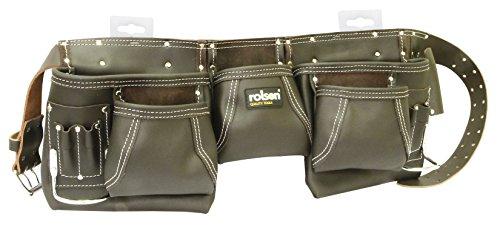 Rolson–68870doble bolsillo único herramienta cinturón–negro