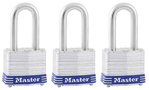 Master Lock 3TRILF Laminated Padlock, 3 Pack, Silver, 3 Piece