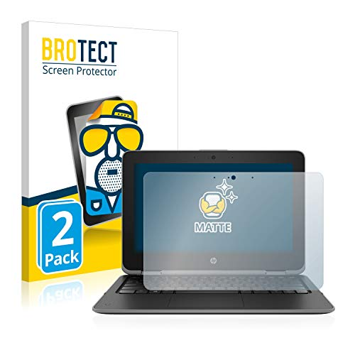 BROTECT 2X Entspiegelungs-Schutzfolie kompatibel mit HP ProBook x360 11 G3 Bildschirmschutz-Folie Matt, Anti-Reflex, Anti-Fingerprint