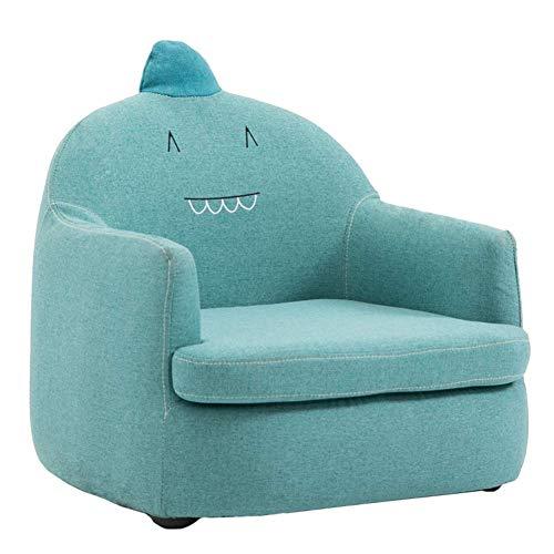 Caiyi Mini Sofa Lounge Stoel voor Mooie Cartoon Bank - Afneembare & Wasbare Cover - 5 Kleuren Optioneel Blauw