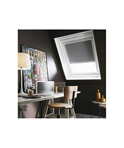 madecostore Store Enrouleur Occultant Compatible VELUX® K - 97 x 98cm - SK06 - Gris Anthracite