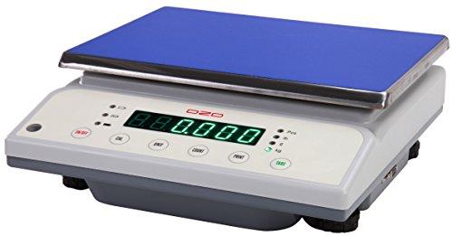 DZD DJ30K Digitale Tischwaage 1g bis 30kg mit großer Wägefläche, Netzbetrieb und Akku