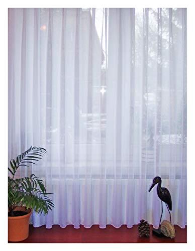 Fertigstore Langstore Sophie Store Gardine Vorhang Komplett Sablé weiß 5267