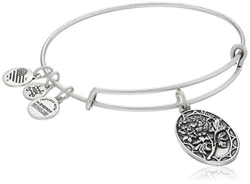 Alex and Ani Because I love you, Mom II Expandable Rafaelian Silver-Tone Bracelet