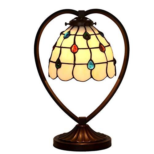 ZUQIEE lámpara de cabecera Lámparas de Mesa, Personalidad Simple Rosa en Forma de corazón Led Luces Dormitorio lámpara de cabecera, Perspectiva de Lectura luz de la Noche, 506-b (Color : 506d)