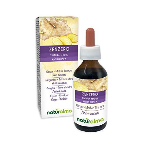 Zenzero (Zingiber officinalis) rizomi Tintura Madre analcoolica NATURALMA | Estratto liquido gocce 100 ml | Integratore alimentare | Vegano