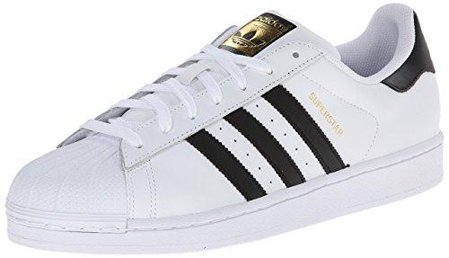 adidas Originals Men's Superstar Vulc ADV, White/Core Black/White, 4 M US