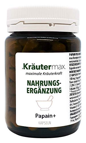 Kräutermax Cápsulas de papaína 1 x 60 veganas
